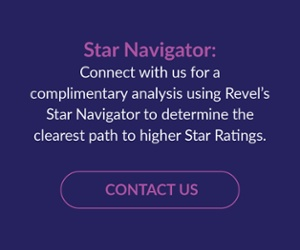 Connect with us for a complimentary analysis using Revel's Star Navigator to determine the clearest path to higher Star Ratings.